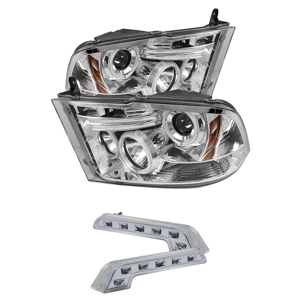 2009 2012 Dodge Ram 1500 Ccfl Halo Projector Led 2500 Headlight Wiring Diagram Headlights 8 Bumper Lamps Automotive