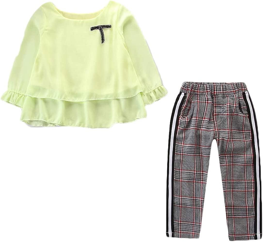 Blusas Manga Corta para Niñas Camisetas Tops + Pantalones A ...