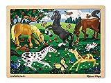 : Melissa & Doug Frolicking Horses Wooden Jigsaw Puzzle With Storage Tray (48 pcs)