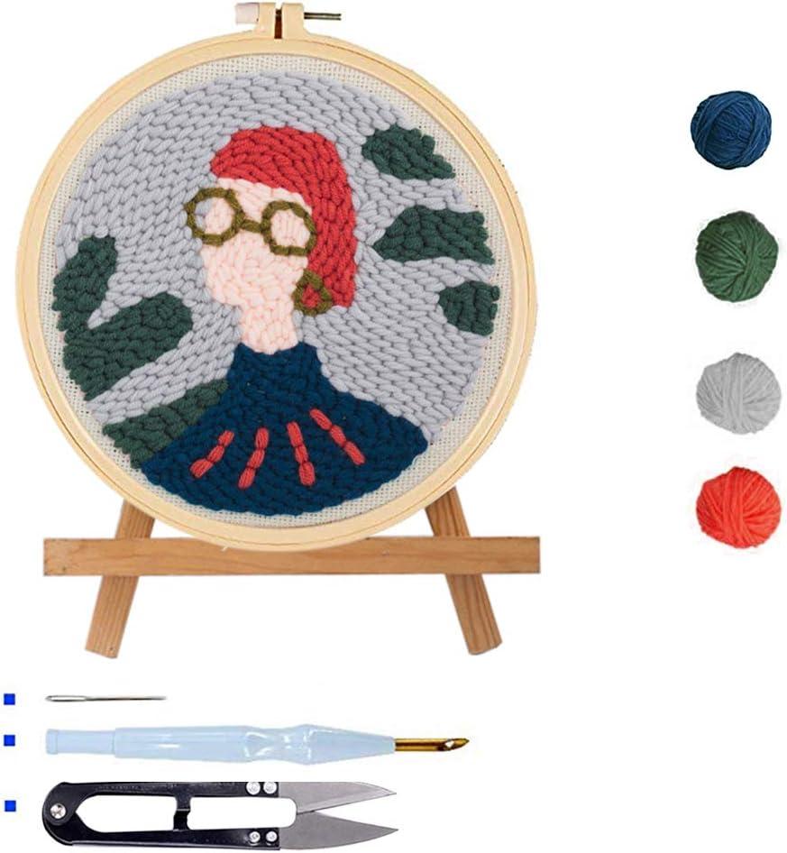 Beginner DIY Rug-Punch Hook Knitting Set Including Embroidery Pen ...