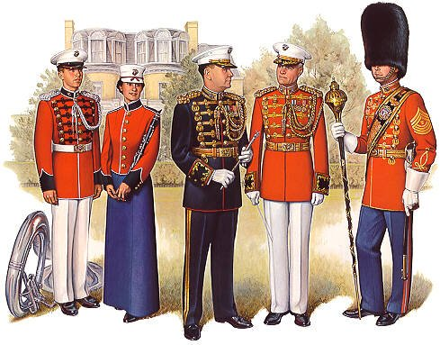Home Comforts LAMINATED POSTER Marine Band Uniform??: From l