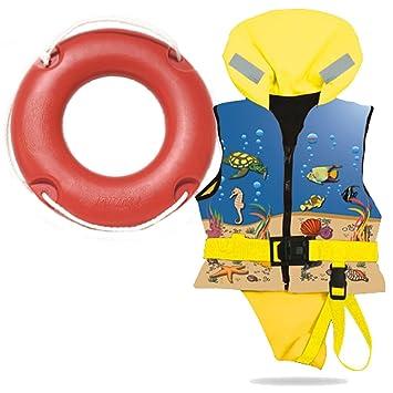 Lalizas Chaleco salvavidas para niño (30 - 40 kg ISO 12402 - 4. Con 36102 45 cm 12402 - 4.: Amazon.es: Deportes y aire libre