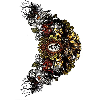HDNSA Gran esqueleto brazo mangas tatuajes para hombres cráneo ...