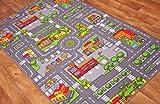 The Rug House Children's Fun & Colourful Roads Play Mat - 80cm x 120cm (2'7' x 3'11')