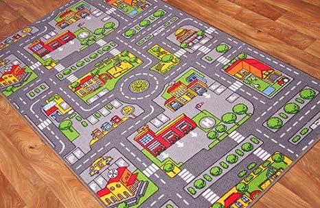 Tappeti Per Bambini Gomma : The rug house tappeto gioco per bambini con strade della