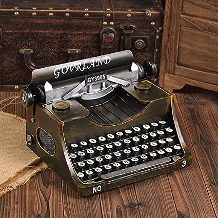 GFEI Antigua máquina de escribir vintage modelo / manualidades creativas decoraciones de ventana de visualizacion props