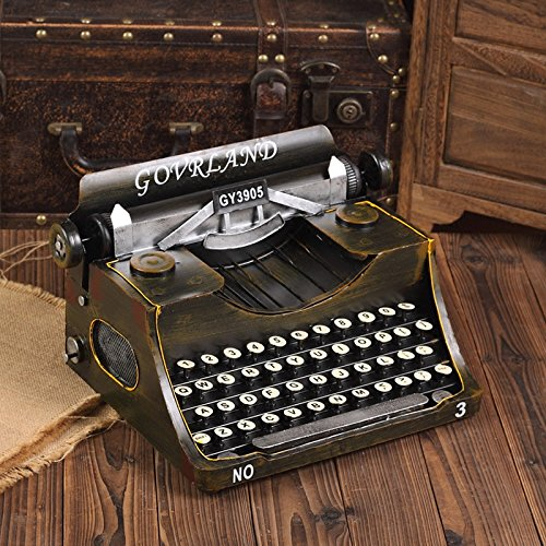 GFEI Antigua máquina de escribir vintage modelo Manualidades / creativo adornos cafe ventana display props decoraciones: Amazon.es: Hogar
