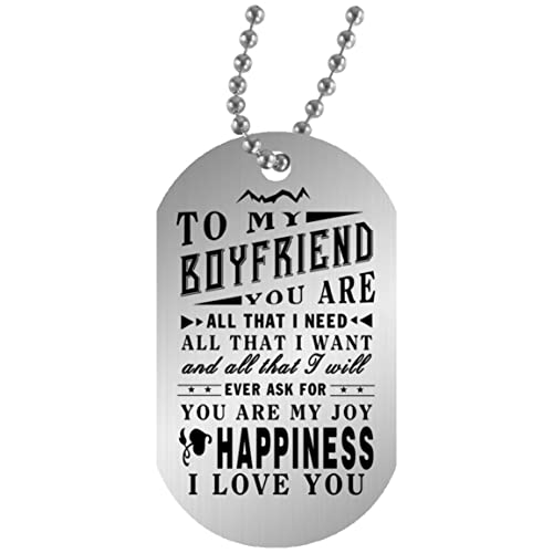Amazon.com: You Are My Joy Dog Tag Custom for Boyfriend Love ...