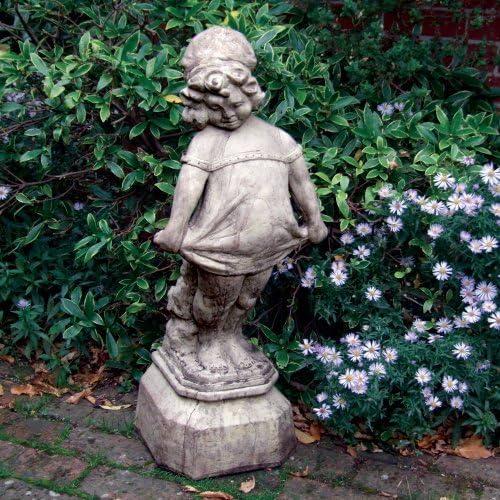 Estatuas de jardín grande - victorianas Chica Escultura de piedra: Amazon.es: Jardín