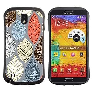 Fuerte Suave TPU GEL Caso Carcasa de Protección Funda para Samsung Note 3 N9000 N9002 N9005 / Business Style Autumn Orange Brown Grey