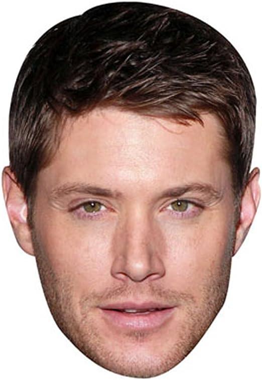 Celebrity Mask Smile Card Face and Fancy Dress Mask Jensen Ackles
