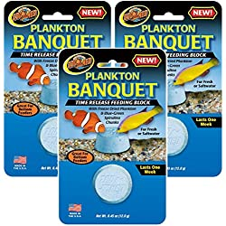 Zoo Med 3 Pack of Plankton Banquet Time Release Feeding Blocks