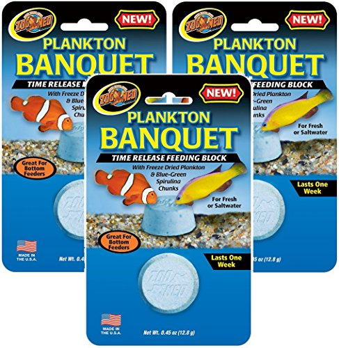 - Zoo Med 3 Pack of Plankton Banquet Time Release Feeding Blocks