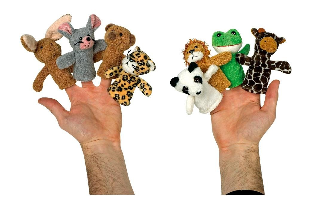 Fingertiere Fingerpuppen Tiere, 8-tlg. Set Small Foot Design