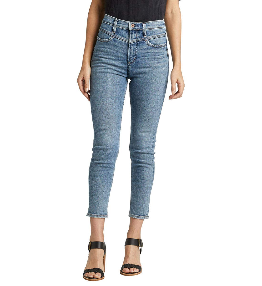 Image result for Silver Jeans Co. Women's Ode to 80's High Rise Skinny