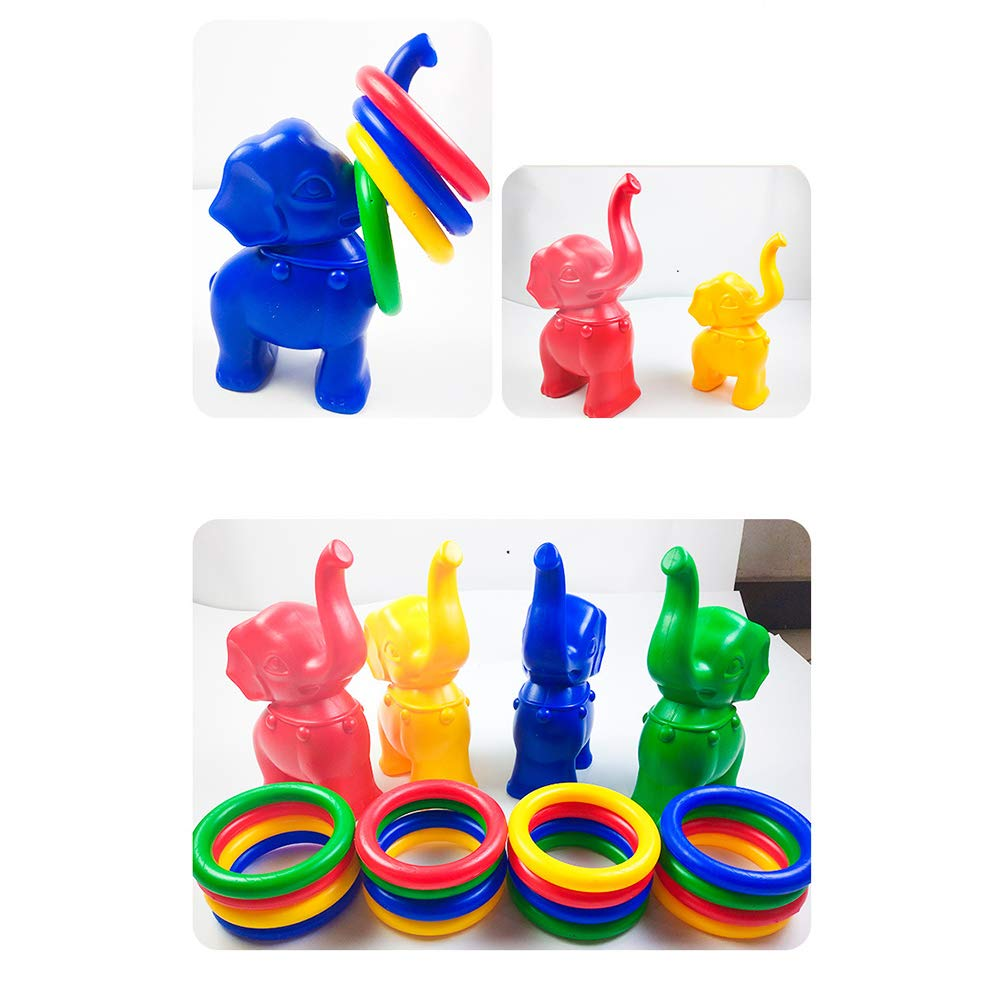 Random Color STOBOK Elephant Rings Toss Game Circle Throwing Game Educational Toys for Kids