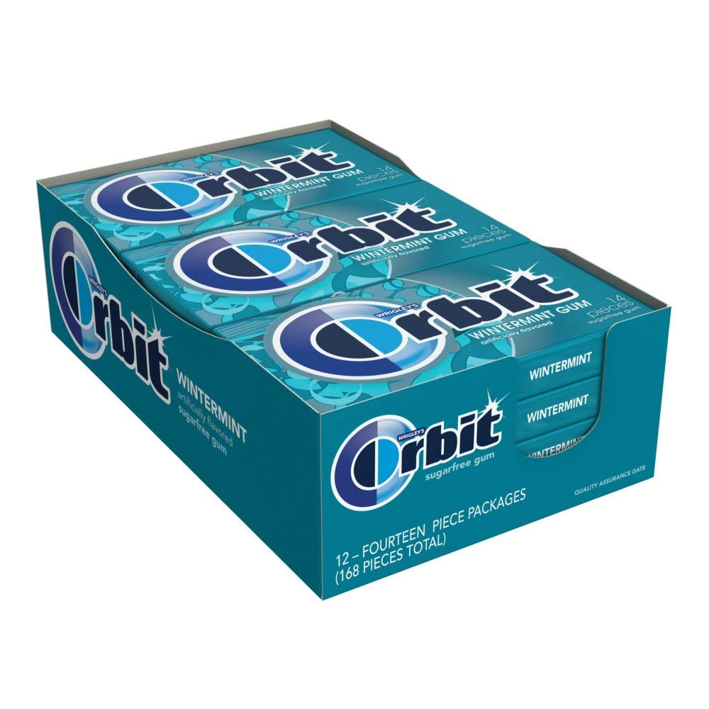 Orbit Wintermint Sugarfree Gum, 12 Packs (3 Case(12 Pack))