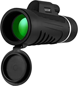 occer Upgraded 12X42 HD Compact Monocular Telescope for Adults,Waterproof Monoculars with 25mm Large Eyepiece & Bak4 Prism Optics,Dual Focus Low Light Scope for Bird Watching,Hunting,Gifts for Men