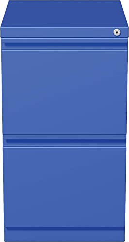 Hirsh Industries 20 Deep File File Mobile Pedestal, Blue, 19361
