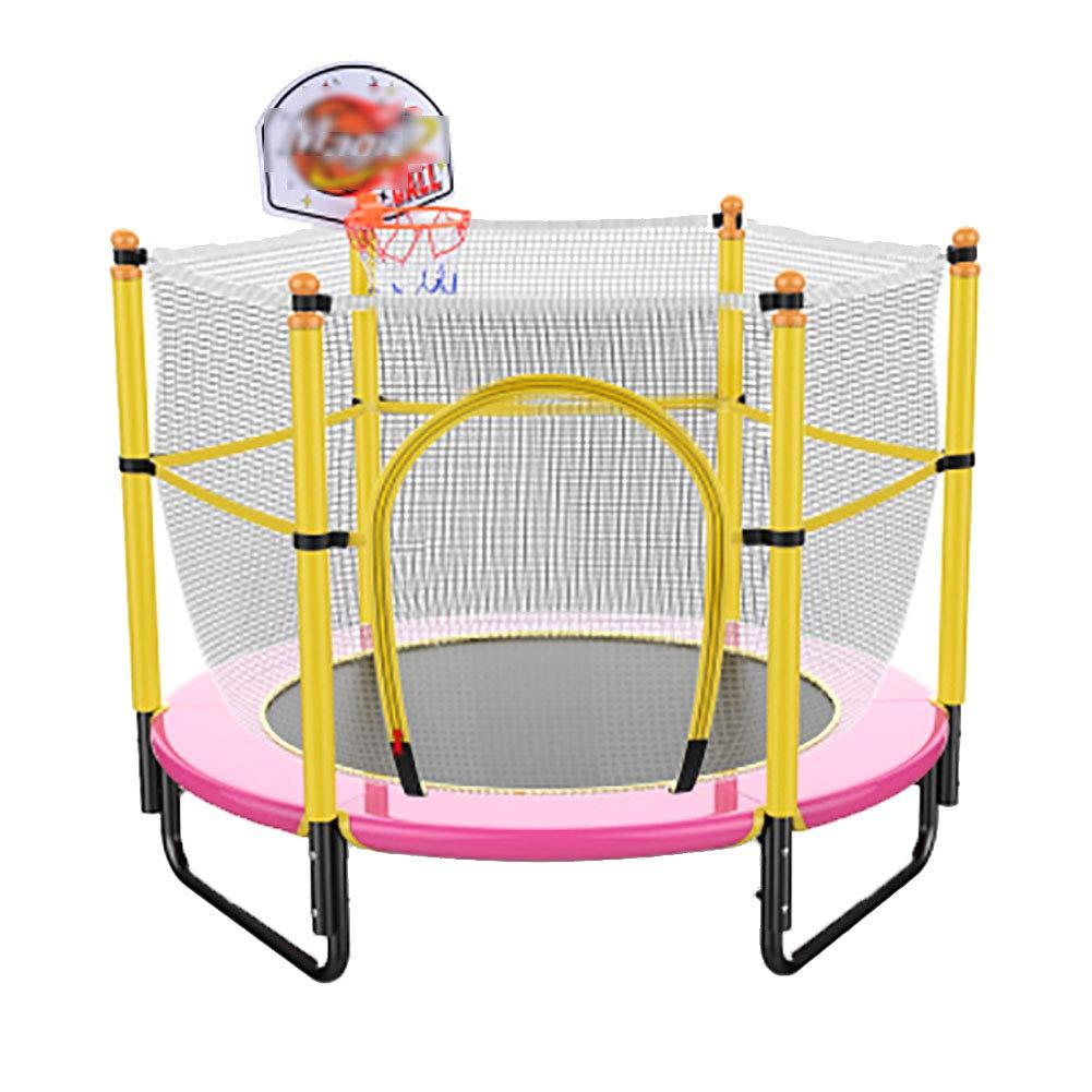 59 Zoll Trampolin mit Basketball Stand sicher elastischen Band Rebounder Fitnesstrainer für Kinder-Trainingsgeräte