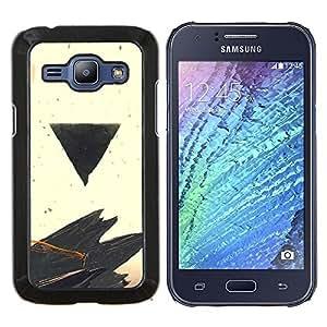 LECELL--Funda protectora / Cubierta / Piel For Samsung Galaxy J1 J100 -- Negro Triángulo --