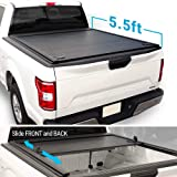 """Syneticusa Aluminum Retractable Low Profile Waterproof Tonneau Cover for 2004-2020 F-150 F150 5.5' 5'6"""" Short Truck Bed"""