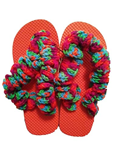 f397adfc72ebf Image Unavailable. Image not available for. Color  Crochet Flip Flops