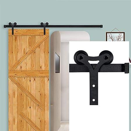 GWXFHT Herraje para Puerta Corredera Kit Kit de Hardware de riel Deslizante de Puerta corrediza de 150-400 cm Estilo Shofar, riel de riel Colgante para Puerta de Granero, Carga: 180 kg: Amazon.es: