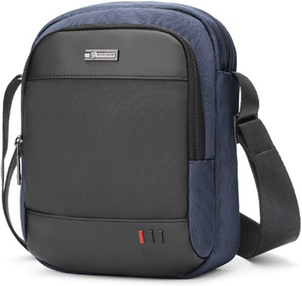 Borsa a Tracolla Messenger Bag Zaino monospalla Borsa a Spalla Casual Lavoro Viaggio per Ipad BAIGIO Borsello Uomo Tracolla Sport Blu-3