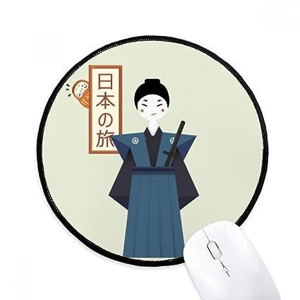 Alfombrillas De Mouse Tradicionales Japonesas Ancient Bushi Redondas