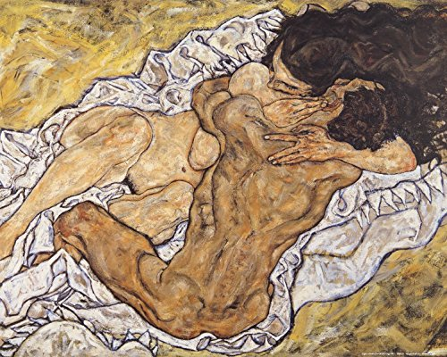 Posters: Egon Schiele Poster Art Print - The Embrace, Lovers Ii, 1917
