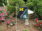 Michigan Wolverines Official NCAA 12.5 inch x 18 inch House Divided Garden Flag