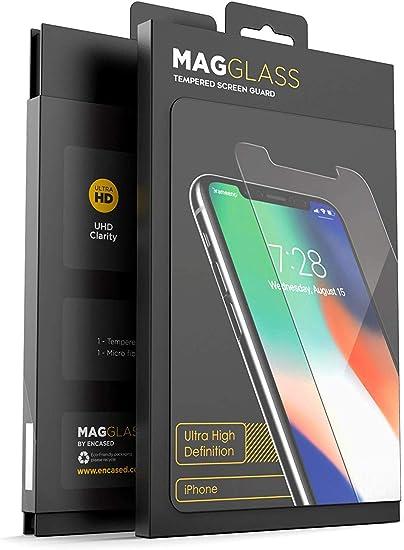 Magglass Coque de protection d'écran en verre trempé incassable pour iPhone XR/iPhone 11