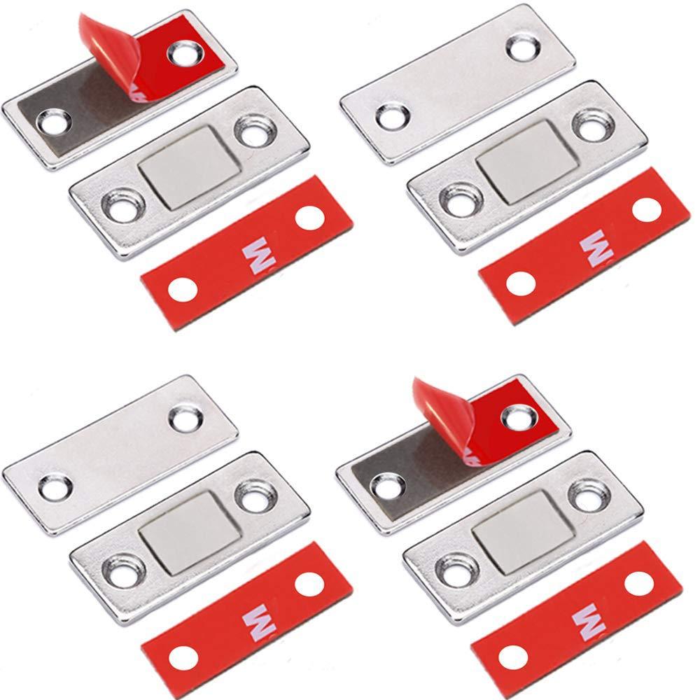 42 * 17mm Bocotoer Magnetschn/äpper Magnet Schublade Magnetverschluss Magnet Schrankt/ür Ultra D/ünn T/ürschlie/ßer T/ür Packung mit 4 St/ück