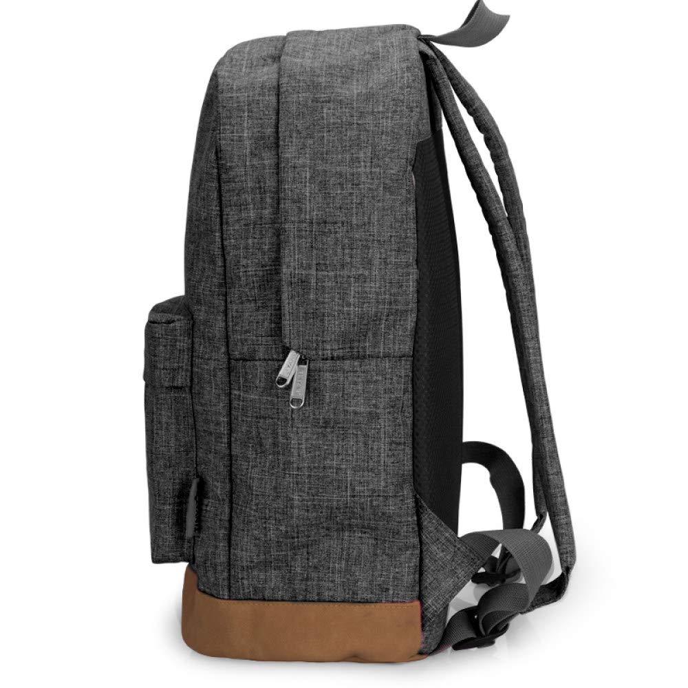 POUPDM Ryggsäck för kvinnor män kanvas ryggsäck grå lediga ryggsäckar laptop ryggsäckar högskola student skolväska ryggsäck Light Gray Usb
