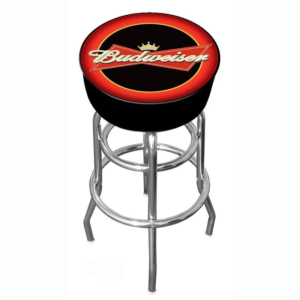 best loved 7dc11 25fb6 Budweiser Padded Swivel Bar Stool