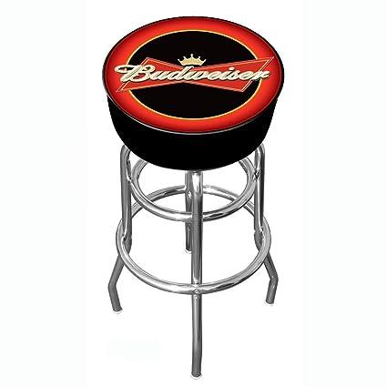Amazon budweiser padded swivel bar stool barstools without budweiser padded swivel bar stool watchthetrailerfo