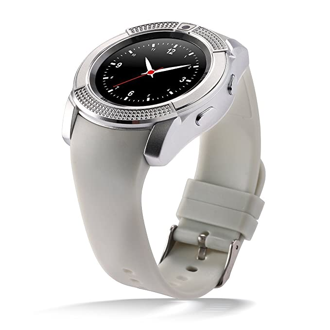 TechComm V8 Smart Watch with Camera, Bluetooth, GSM and IPS Display
