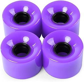zhang-hongjun,4pcs 60 Roues de Planche à roulettes Couleur Solide de 45 mm de Couleur pour la Plupart des Planches à roulettes(Color:Violet)