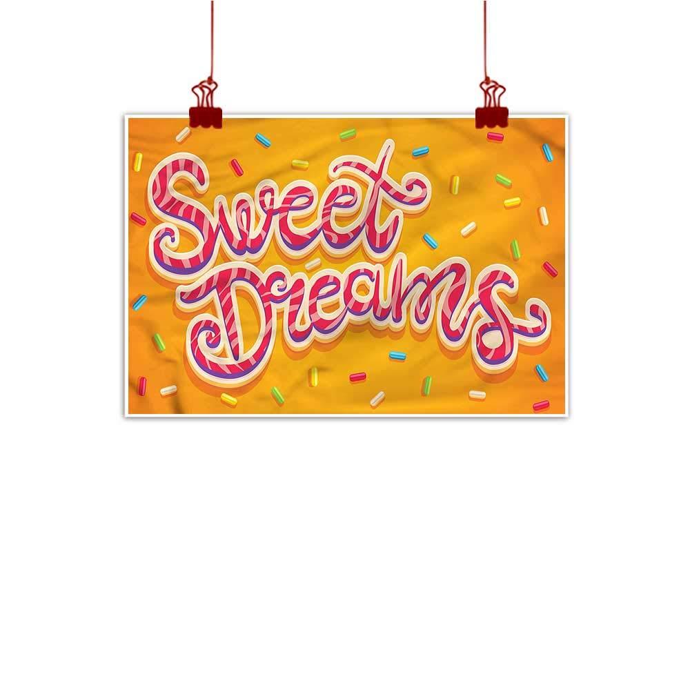 Mangooly Canvas Prints Boho Sweet Dreams,colorful Candies 48 x32  for Boys Room Baby Nursery Wall Decor Kids Room Boys Gift