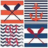 Nautical Boat Lake Beach Theme Summer Cocktail Napkins Variety Pack 40 Total Napkins