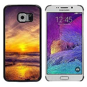 iKiki Tech / Estuche rígido - Sunset Sea Beautiful Nature 11 - Samsung Galaxy S6 EDGE SM-G925