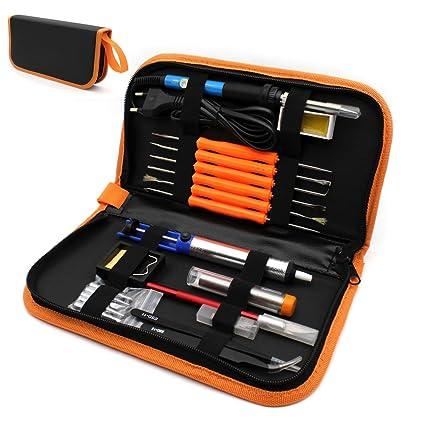 HKANG® 8 EN 1 Kit de Soldadura, 220v 60W Soldador Electrónica de Estaño,
