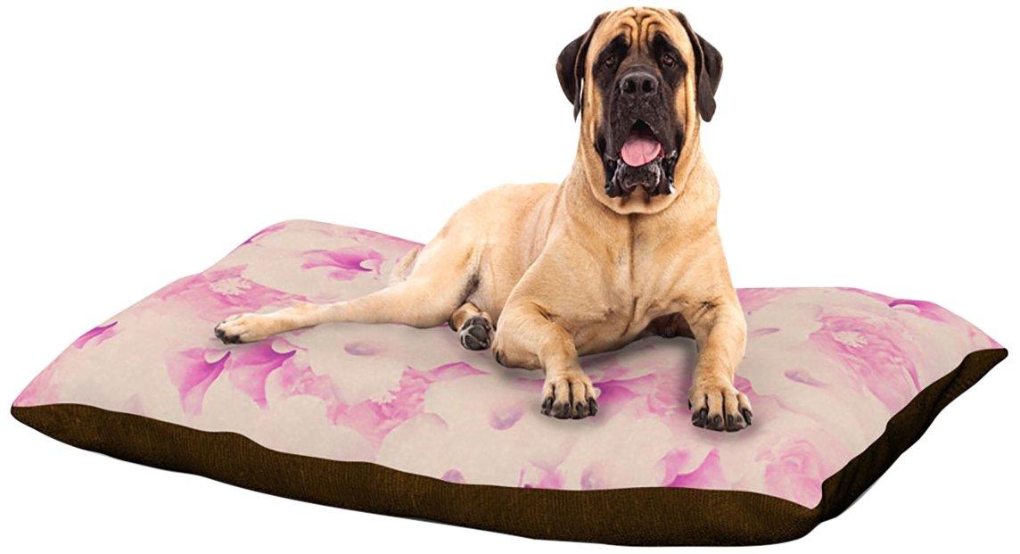 X-Large 40\ Kess InHouse Deepti Munshaw bluesh Bouquet  Pink pinks Dog Bed, 30 by 40-Inch