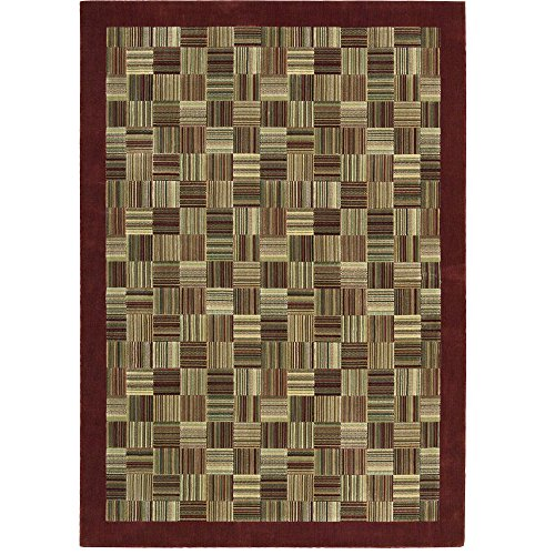 Nourison Parallels (PR18) Brick Rectangle Area Rug, 7-Feet 9-Inches by 10-Feet 10-Inches (7'9