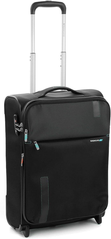 Roncato Maleta Pequeña XS Blanda Speed - Cabina cm 55 x 40 x 20/23 Capacidad 42/48 L, Extensible, Ligero, Organización Interna, Cierre TSA, Aprobado para: Ryanair Easyjet Lufthansa, Garantìa 2 años
