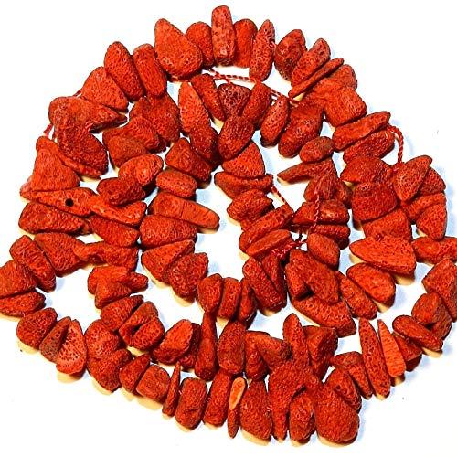 Bead Jewelry Making Red Medium 10mm - 18mm Sponge Coral Nugget Chip Gemstone Beads 15