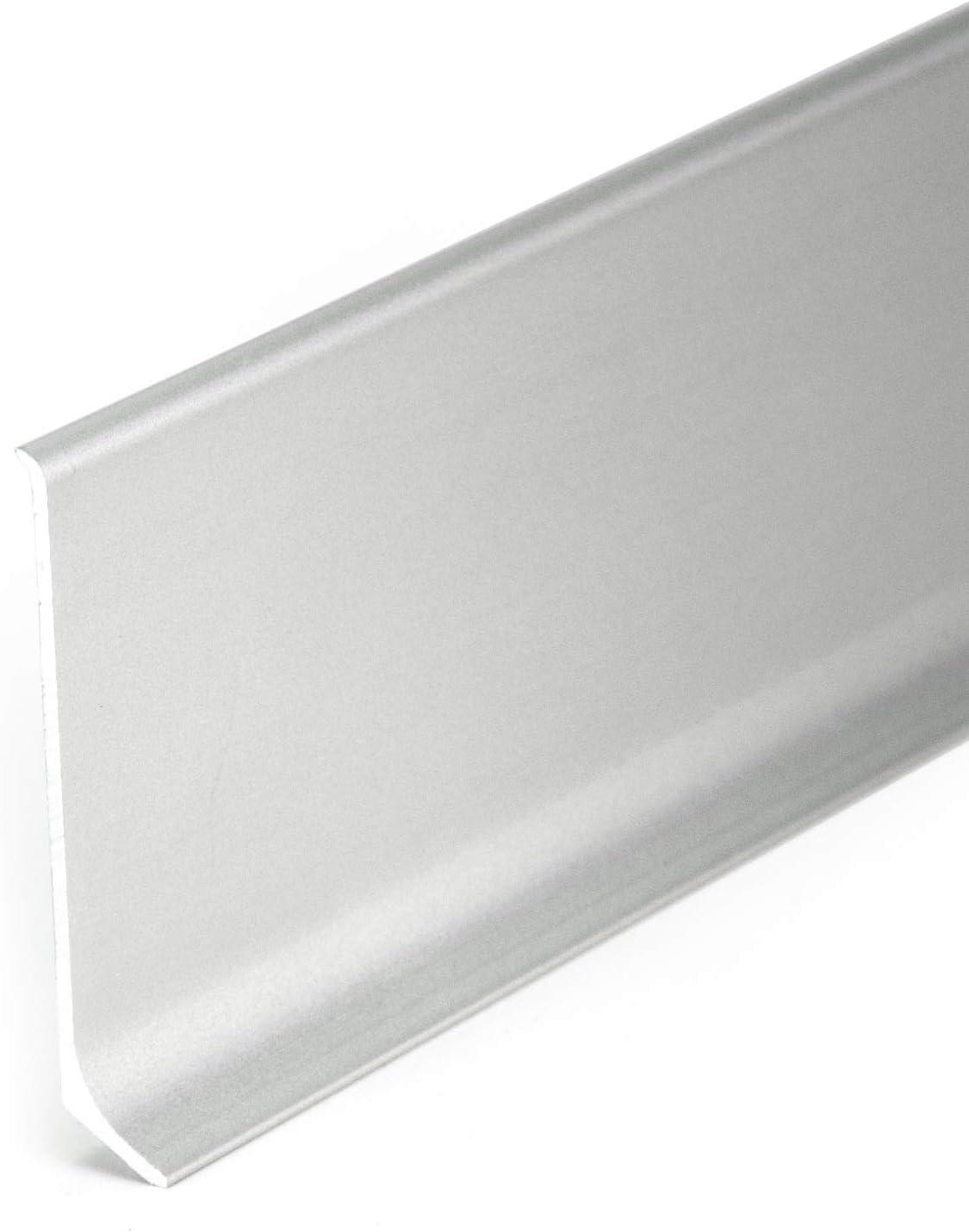1 pc PCV angle int/érieur pour plinthe 80mm couleur argent