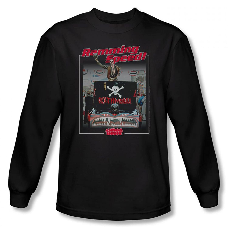 Animal House - Mens Ramming Speed Long Sleeve Shirt In Black, X-Large, Black