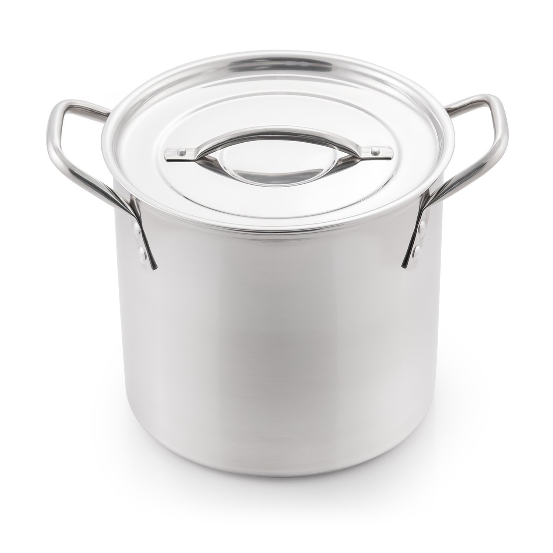 McSunley 605 Medium Stainless Steel Prep N Cook Stockpot, 6 quart, Metallic